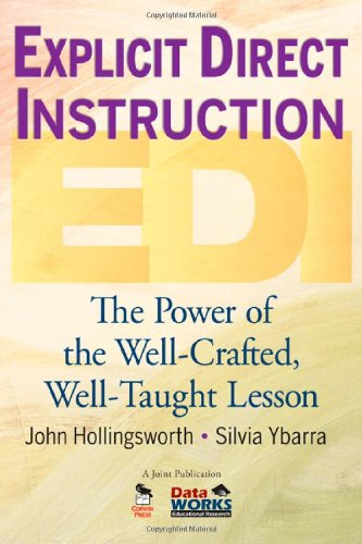 Explicit Direct Instruction (EDI) The Power of the Well-Crafted, Well-Taught Lesson  2009 9781412955744 Front Cover