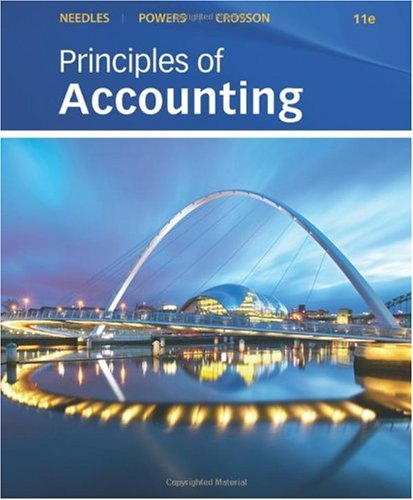 Principles of Accounting  11th 2011 edition cover