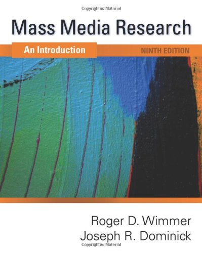 Mass Media Research An Introduction 9th 2011 edition cover