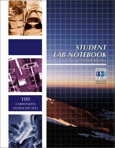 Student Lab Notebook 100 Spiral Bound Duplicate Pages  2000 edition cover