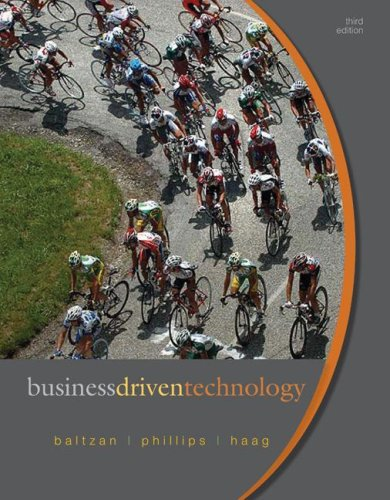 Business Driven Technology  3rd 2009 edition cover