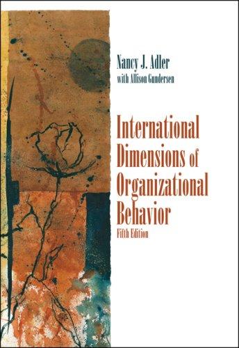International Dimensions of Organizational Behavior  5th 2008 edition cover