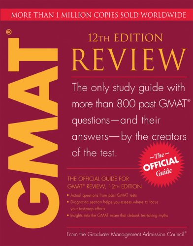 Official Guide for GMAT Review  12th 2009 edition cover