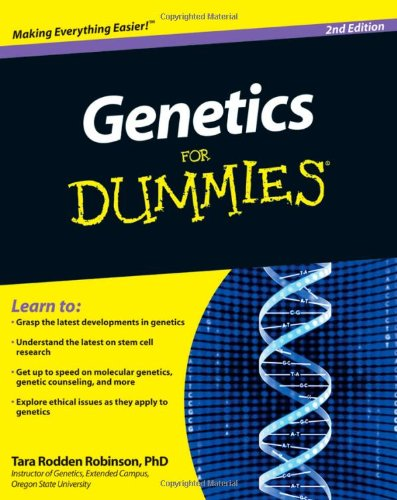 Genetics for Dummies�  2nd 2010 edition cover