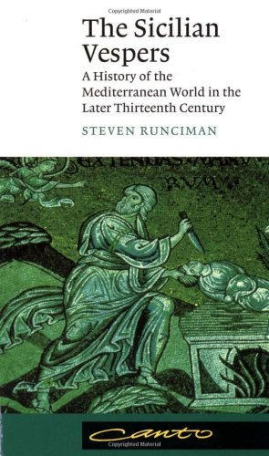 Sicilian Vespers A History of the Mediterranean World in the Later Thirteenth Century  1958 edition cover
