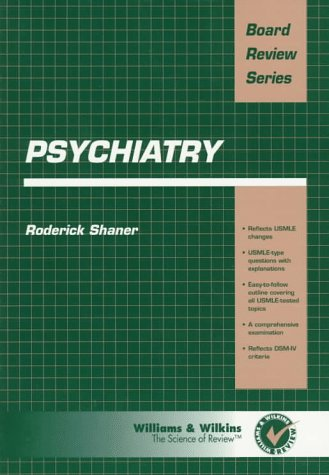 BRS Psychiatry N/A 9780683076745 Front Cover