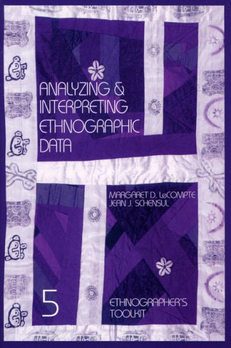 Analyzing and Interpreting Ethnographic Data   1999 edition cover