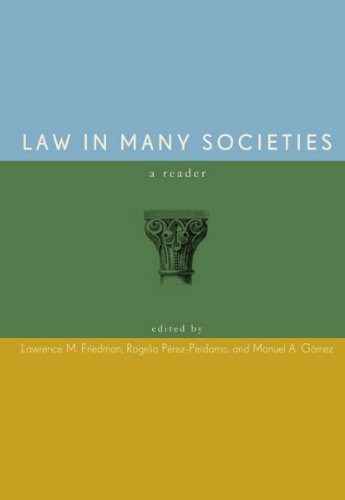 Law in Many Societies A Reader  2011 edition cover