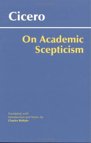 On Academic Scepticism   2006 edition cover