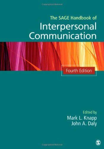 SAGE Handbook of Interpersonal Communication  4th 2011 edition cover