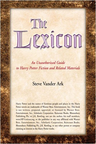 Lexicon An Unauthorized Guide to Harry Potter Fiction and Related Materials  2008 edition cover