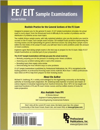 FE/EIT Sample Examinations  2nd 2006 edition cover