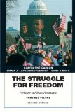 The Struggle for Freedom: A History of African Americans  2014 edition cover