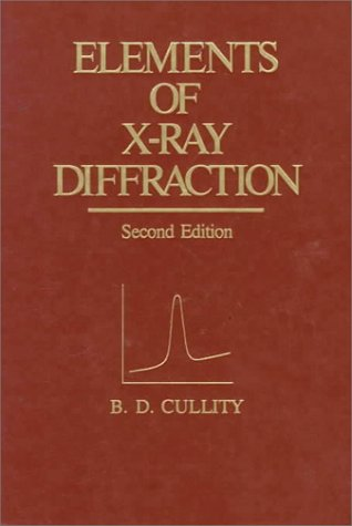 Elements of X-Ray Diffraction 2nd 1978 9780201011746 Front Cover