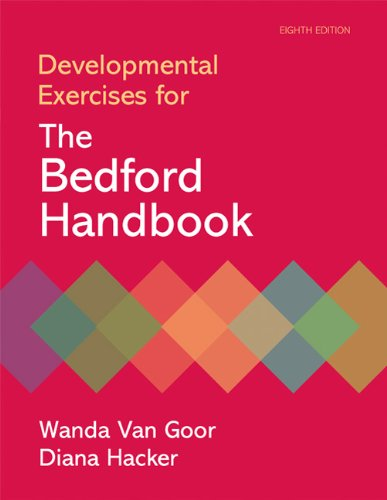 Developmental Exercises for the Bedford Handbook  8th 2010 edition cover