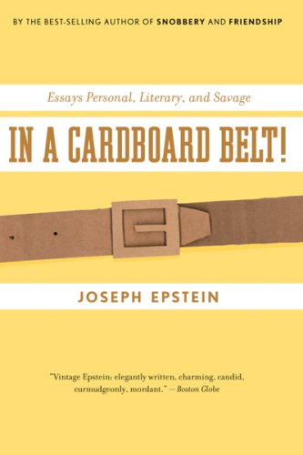 In a Cardboard Belt! Essays Personal, Literary, and Savage  2007 9780547085746 Front Cover
