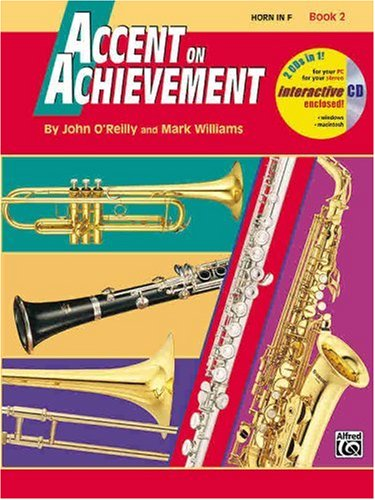 Accent on Achievement, Bk 2 Horn in F, Book and CD  1998 edition cover