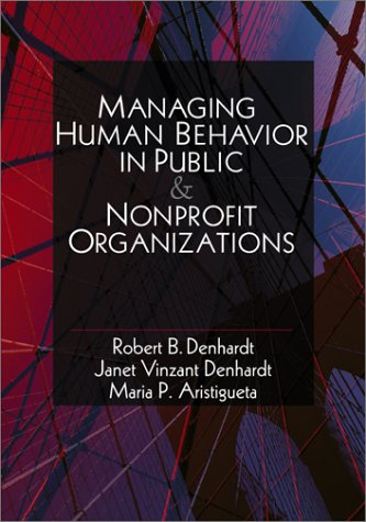Managing Human Behavior in Public and Nonprofit Organizations   2001 edition cover