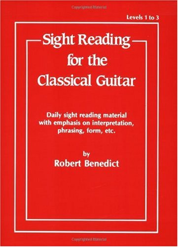 Sight Reading for the Classical Guitar Level I-III  1985 edition cover