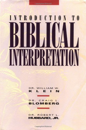 Introduction to Biblical Interpretation   1993 edition cover
