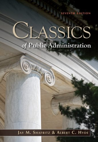Classics of Public Administration  7th 2012 edition cover