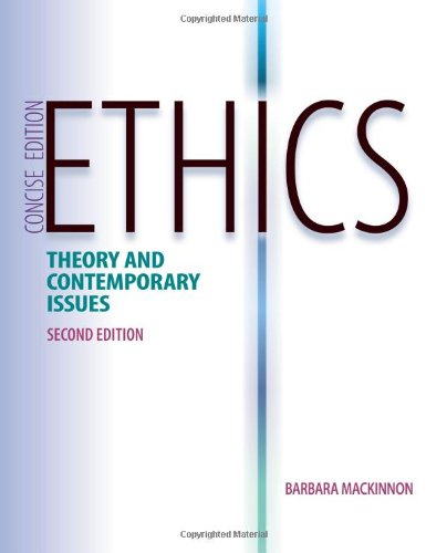 Ethics Theory and Contemporary Issues, Concise Edition 2nd 2013 edition cover
