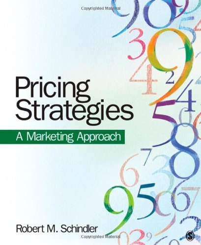 Pricing Strategies A Marketing Approach  2012 edition cover