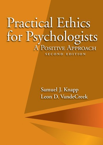 Practical Ethics for Psychologists A Positive Approach 2nd 2012 (Revised) edition cover