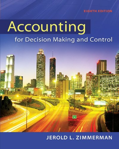 Accounting for Decision Making and Control  8th 2014 edition cover