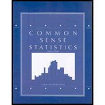 COMMON SENSE STATISTICS N/A 9780078038747 Front Cover