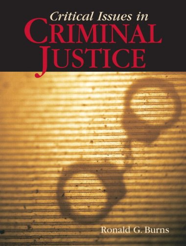Critical Issues in Criminal Justice   2009 edition cover