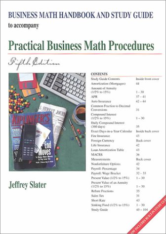 Practical Business Math Procedures Business Math Handbook 5th 1997 9780256238747 Front Cover