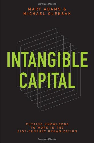 Intangible Capital Putting Knowledge to Work in the 21st-Century Organization  2010 9780313380747 Front Cover