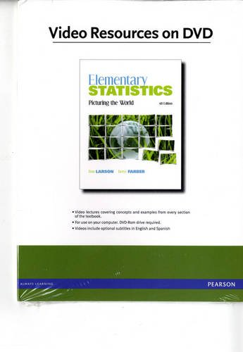 Videos on DVD for Elementary Statistics Picturing the World 5th 2012 edition cover