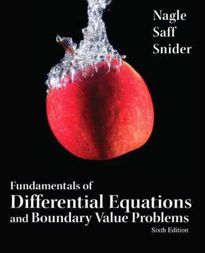 Fundamentals of Differential Equations and Boundary Value Problems  6th 2012 (Revised) 9780321747747 Front Cover