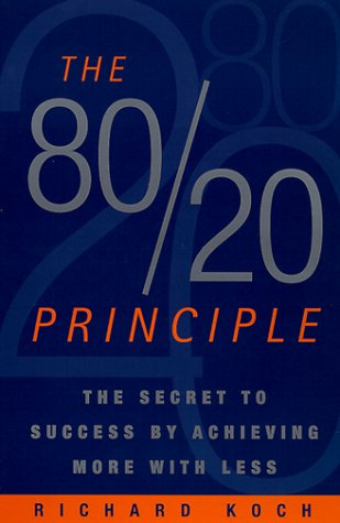 80/20 Principle The Secret to Achieving More with Less  1998 edition cover