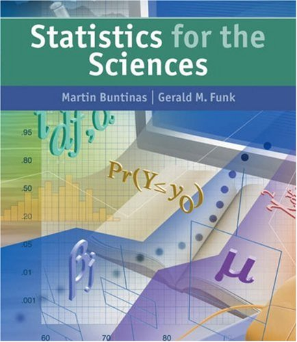 Statistics for the Sciences   2005 edition cover
