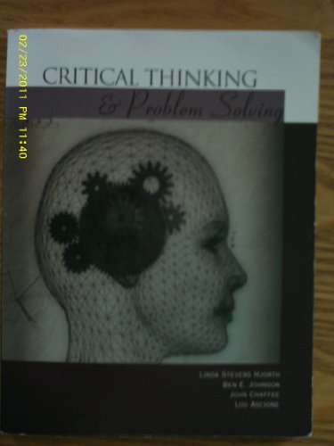 CRITICAL THINKING+PROBLEM SOLV 1st 9780618131747 Front Cover