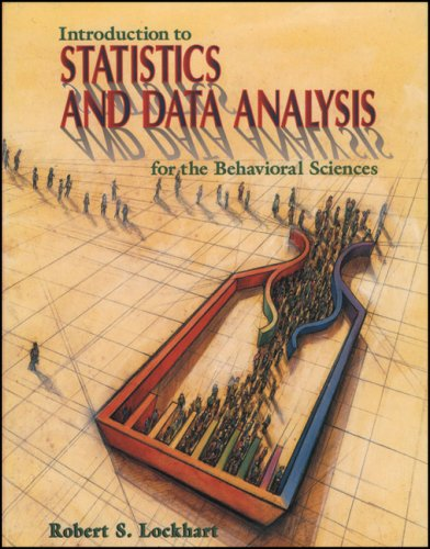 Introduction to Statistics and Data Analysis For the Behavioral Sciences  1998 edition cover