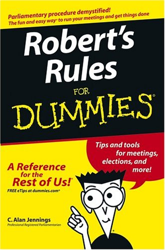 Robert's Rules for Dummies   2005 edition cover