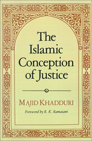 Islamic Conception of Justice   1984 edition cover