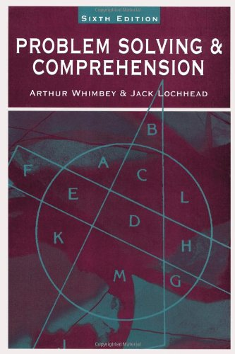 Problem Solving and Comprehension A Short Course in Analytical Reasoning 6th 1999 (Revised) edition cover