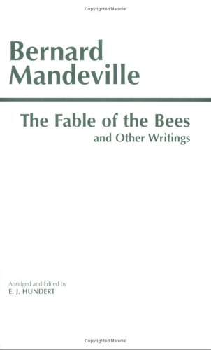 Fable of the Bees and Other Writings   1997 (Abridged) edition cover