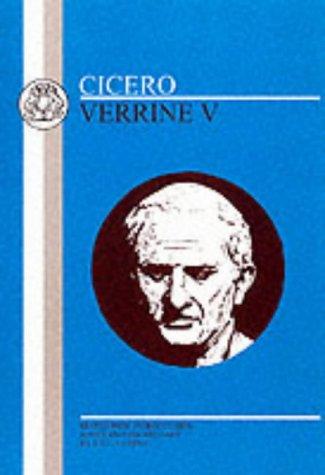 Cicero - Verrine V  Reprint edition cover