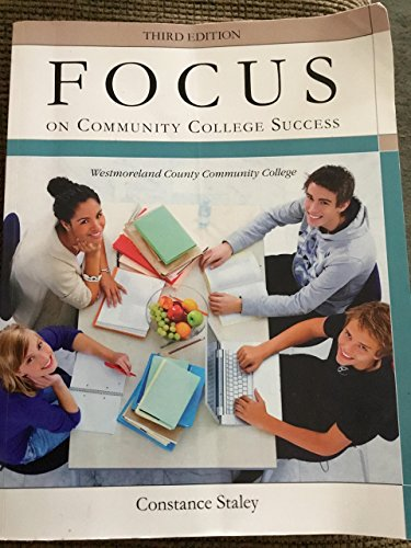 FOCUS ON COMM.COLL.SUCCESS-W/ACCESS     N/A 9781285484747 Front Cover