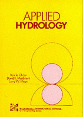 Applied Hydrology   1988 edition cover