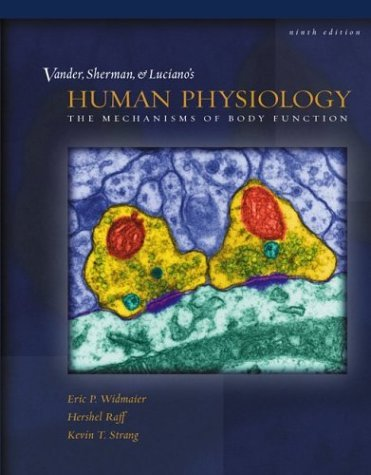 Vander et Al's Human Physiology With OLC Bind-In Card 9th 2004 edition cover