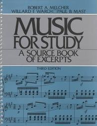 Music for Study  3rd 1988 edition cover