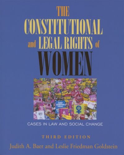 Constitutional and Legal Rights of Women Cases in Law and Social Change 3rd 2006 edition cover