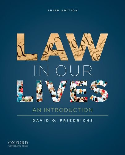 Law in Our Lives An Introduction 3rd 2011 edition cover